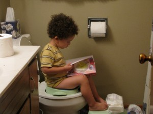 his fave potty time activity ;)