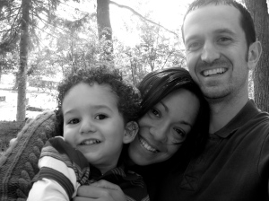 My fam & I at the park on Saturday
